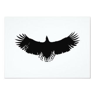 Convite da silhueta de Eagle do vôo