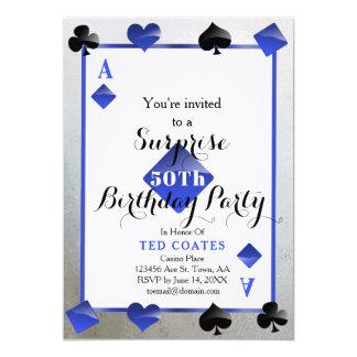 convite da surpresa do aniversário do casino