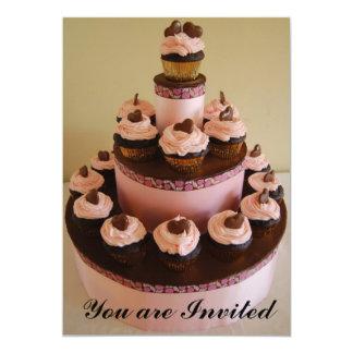 Convite da torre do cupcake