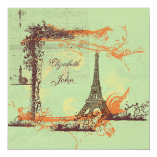 Convite da torre Eiffel de Eiffel da excursão do