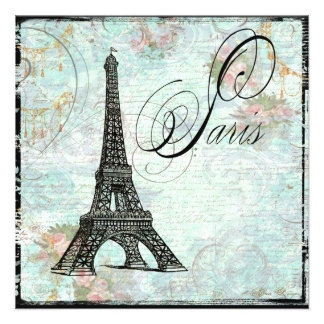 Convite da torre Eiffel de Eiffel da excursão do L