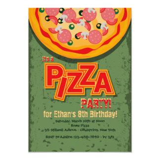 Convite da torta de pizza