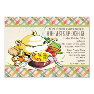 Convite da troca da sopa da colheita