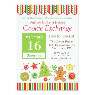 Convite da troca do biscoito do feriado do