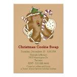 Convite da troca do biscoito do Natal dos deleites