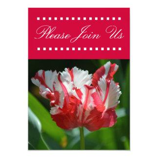 Convite da tulipa convite 12.7 x 17.78cm