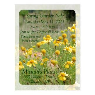 Convite da venda do jardim