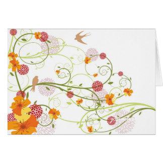 Convite das andorinhas/data florais amarelos das cartão comemorativo