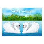 Convite das cisnes do amor convite 12.7 x 17.78cm