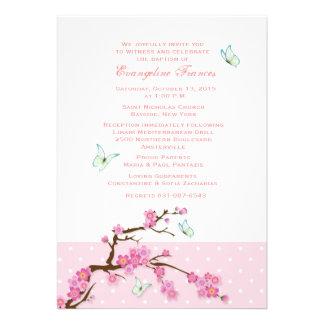 Convite das flores de cerejeira e das borboletas