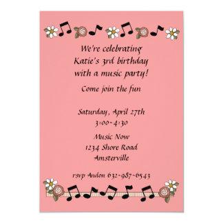 Convite das notas musicais