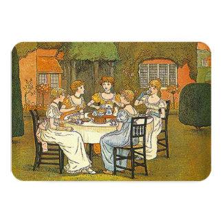 Convite das senhoras das mulheres do chá alto da