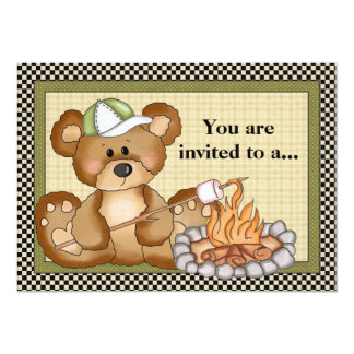 Convite de acampamento da reunião de família do