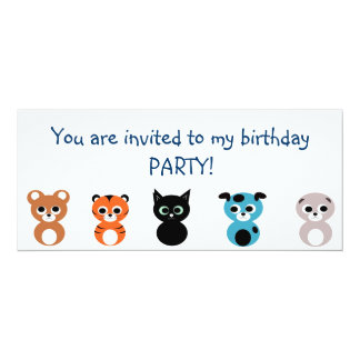 Convite de aniversário convite 10.16 x 23.49cm