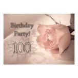 Convite de aniversário 100 anos velho