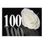 Convite de aniversário 100 anos velho convite 12.7 x 17.78cm