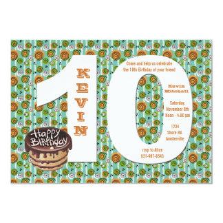 Convite de aniversário 10 grande