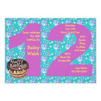 Convite de aniversário 12 grande