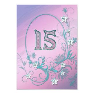 Convite de aniversário 15 anos velho convite 12.7 x 17.78cm