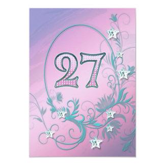 Convite de aniversário 27 anos velho
