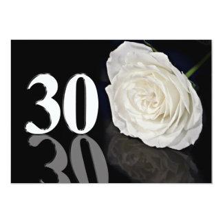 Convite de aniversário 30 anos velho convite 12.7 x 17.78cm