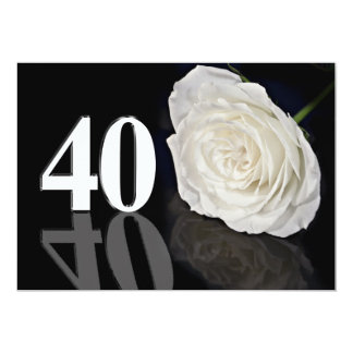 Convite de aniversário 40 anos velho