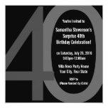 Convite de aniversário 40 grande quadrado