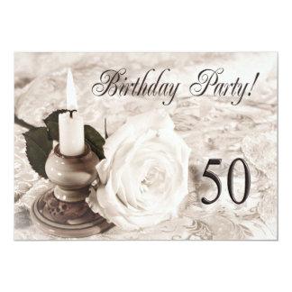 Convite de aniversário 50 anos velho