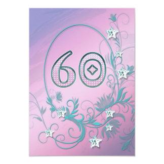 Convite de aniversário 60 anos velho