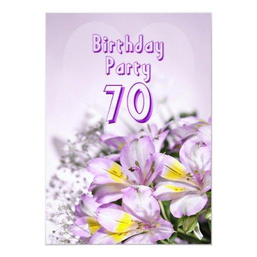 Convite Aniversario 70 Anos Feminino Convite de Aniversário 70 Anos