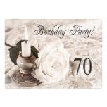 Convite de aniversário 75 anos velho