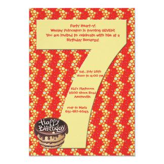Convite de aniversário 7 grande