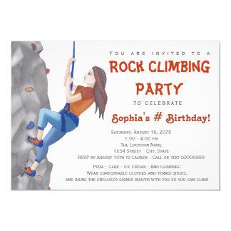 Convite de aniversário adolescente da escalada das