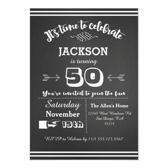 Convite De Aniversário Adulto 50th 60th 40th Zazzlecombr