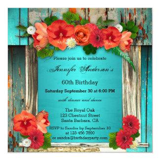 Convite de aniversário adulto chique boémio