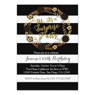Convite de aniversário adulto do ouro da surpresa