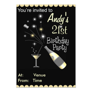 Convite de aniversário - alguma idade - adulto