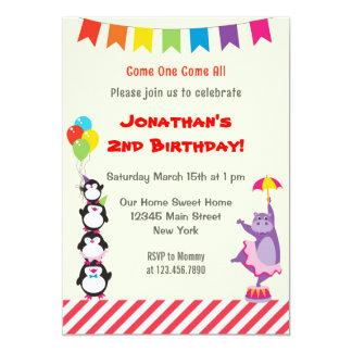 Convite de aniversário animal das crianças do