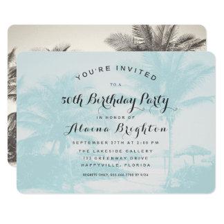 Convite de aniversário azul do costume das