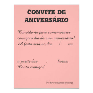 Convite de aniversário Benfica