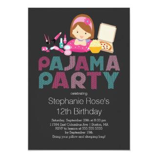 Convite de aniversário bonito do pijama do