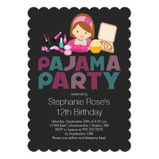 Convite de aniversário bonito do pijama do convite 12.7 x 17.78cm