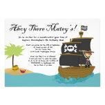 Convite de aniversário bonito do pirata do menino