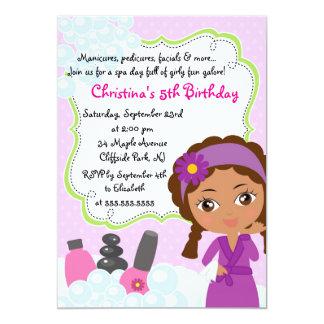 Convite de aniversário bonito dos termas do