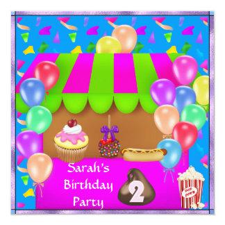 Convite de aniversário colorido das crianças o ò