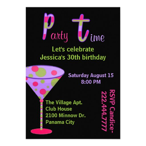 Convite de aniversário colorido do adulto do diver