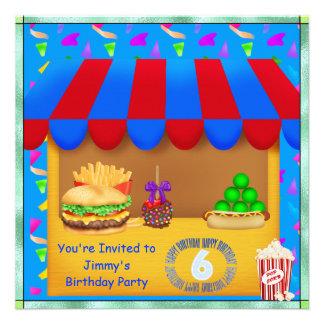 Convite de aniversário colorido dos meninos 6o