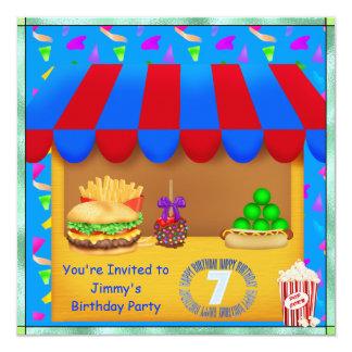 Convite de aniversário colorido dos meninos 7o