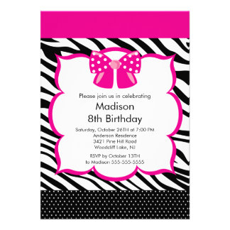 Convite de aniversário cor-de-rosa do adolescente