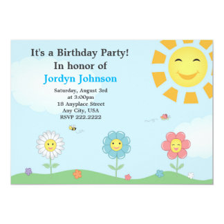 Convite de aniversário customizável do jardim